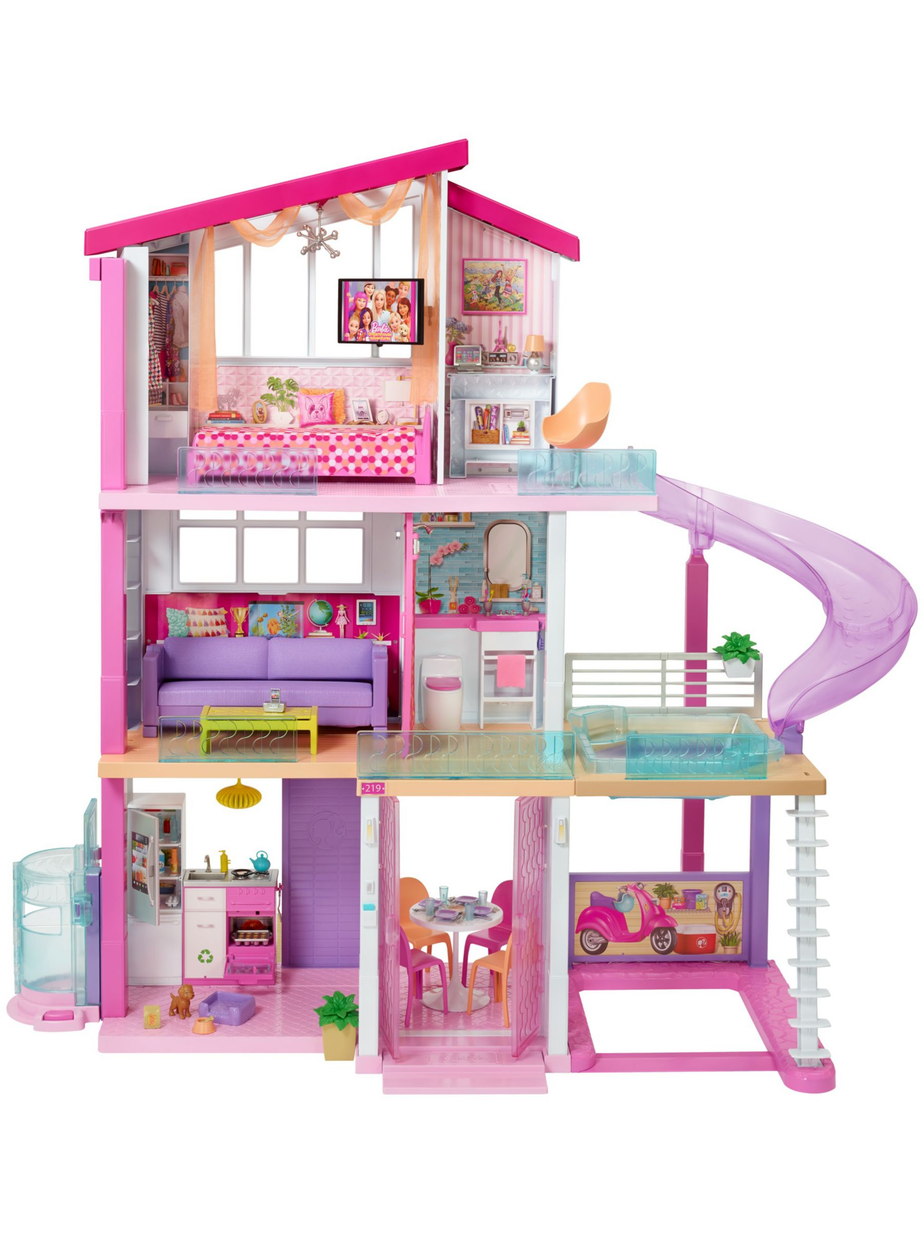 Barbie Dreamhouse With Slide At John