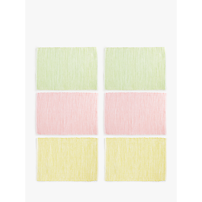 John Lewis & Partners Easter Sherbet Placemats, Assorted, Set of 6