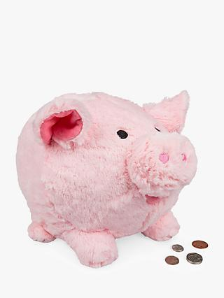 Cuddly Piggy Bank Soft Toy