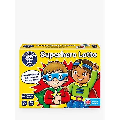 Image of Orchard Toys Superhero Lotto Match and Memory Game