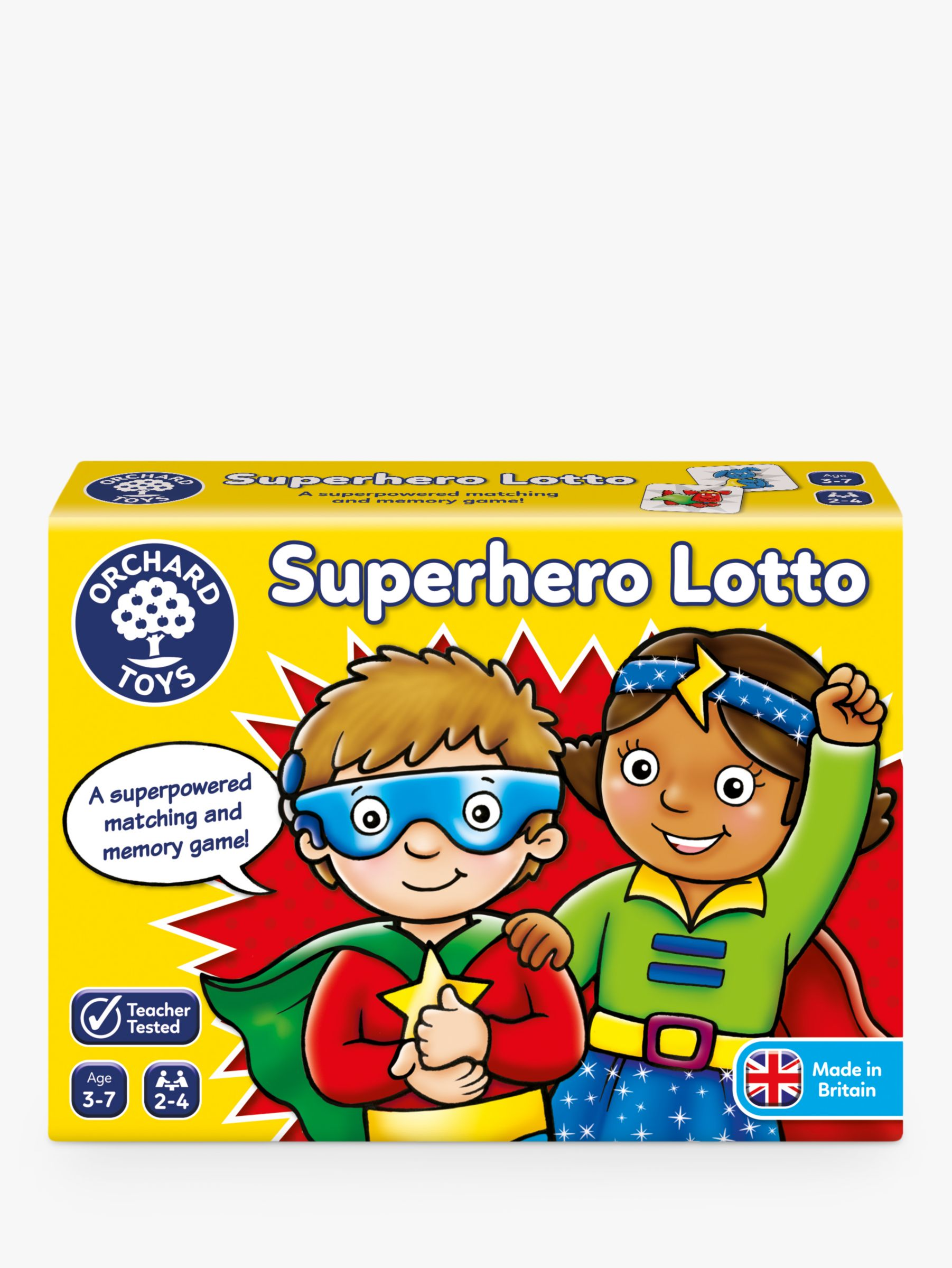 Orchard Toys Orchard Toys Superhero Lotto Match and Memory Game
