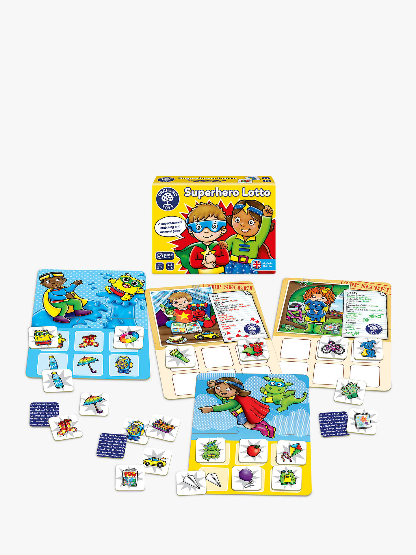BuyOrchard Toys Superhero Lotto Match and Memory Game Online at johnlewis.com