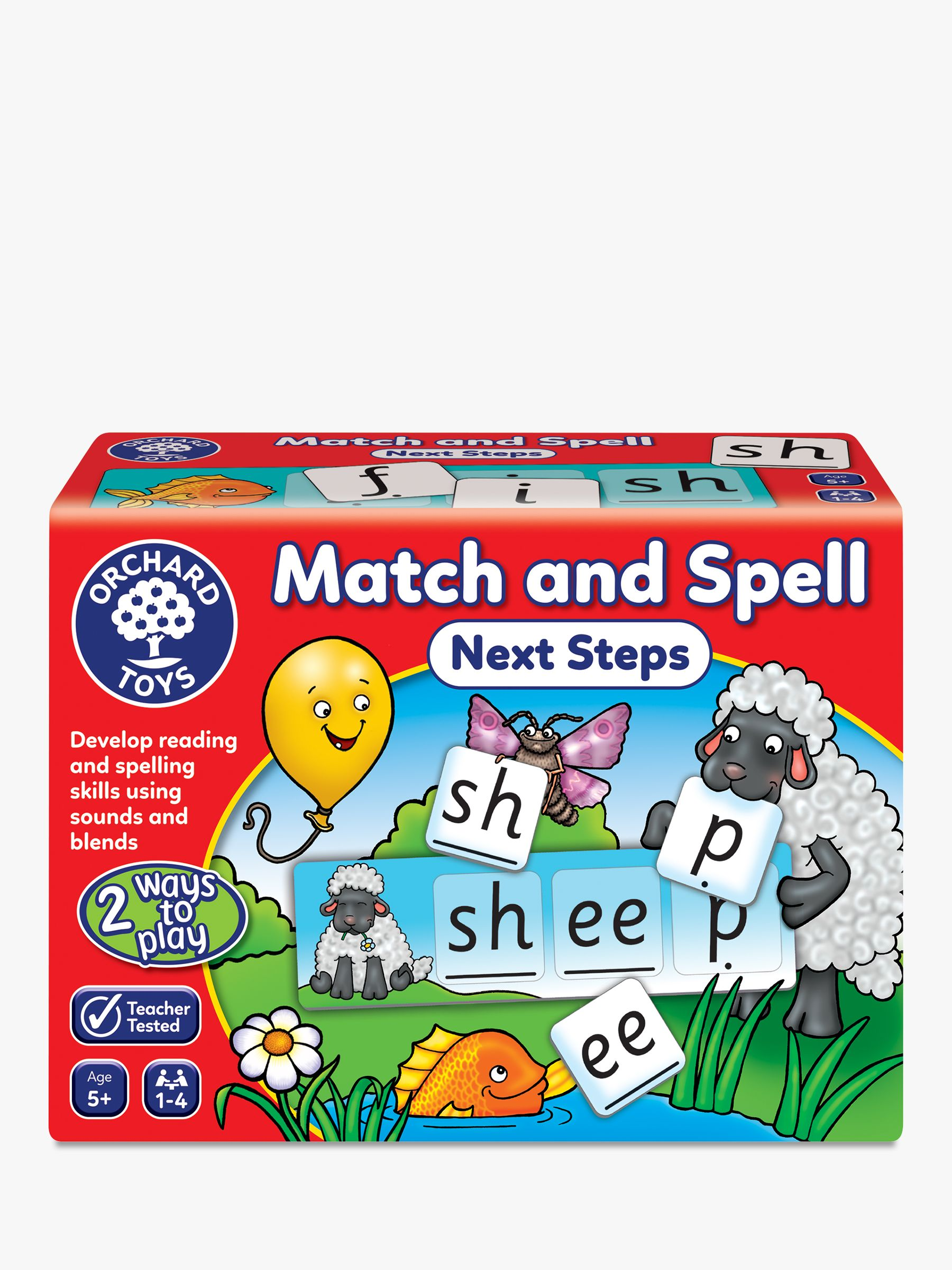 Orchard Toys Orchard Toys Match and Spell Next Steps Spelling Game