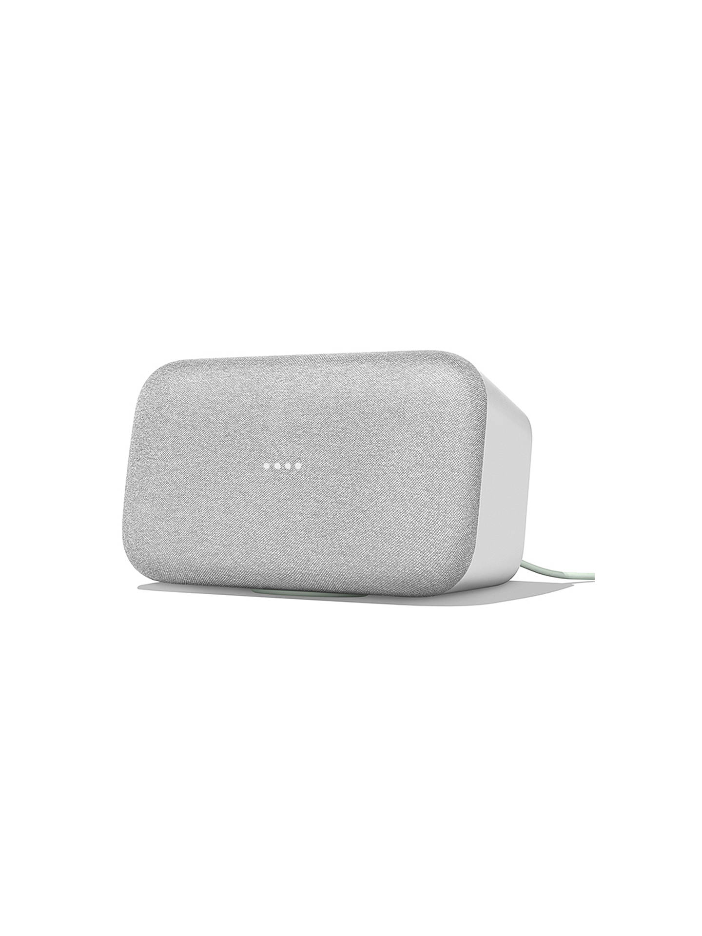 BuyGoogle Home Max Hands-Free Smart Speaker, Chalk Online at johnlewis.com
