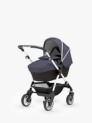 Silver Cross Wayfarer Pushchair, Chassis, Carrycot and Essentials Pack, Midnight Blue