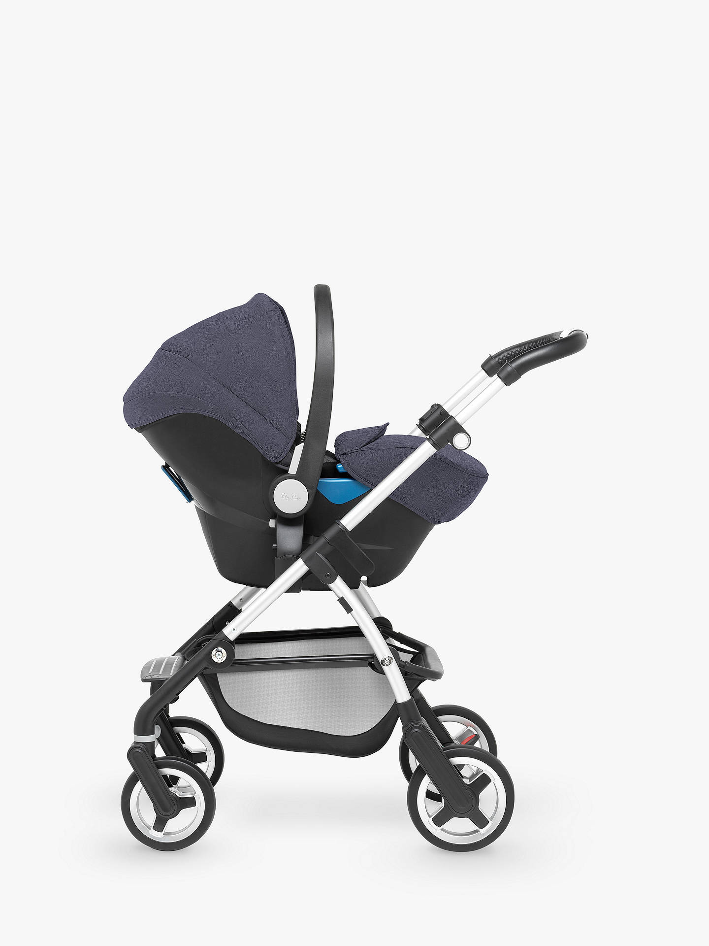 BuySilver Cross Wayfarer Pushchair, Chassis, Carrycot and Essentials Pack, Midnight Blue Online at johnlewis.com