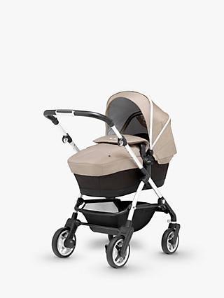 Silver Cross Wayfarer Pushchair, Chassis, Carrycot and Essentials Pack, Linen