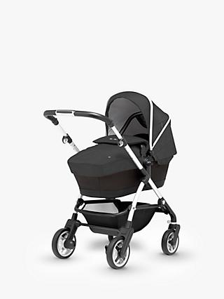Silver Cross Wayfarer Pushchair, Chassis, Carrycot and Essentials Pack, Onyx Black