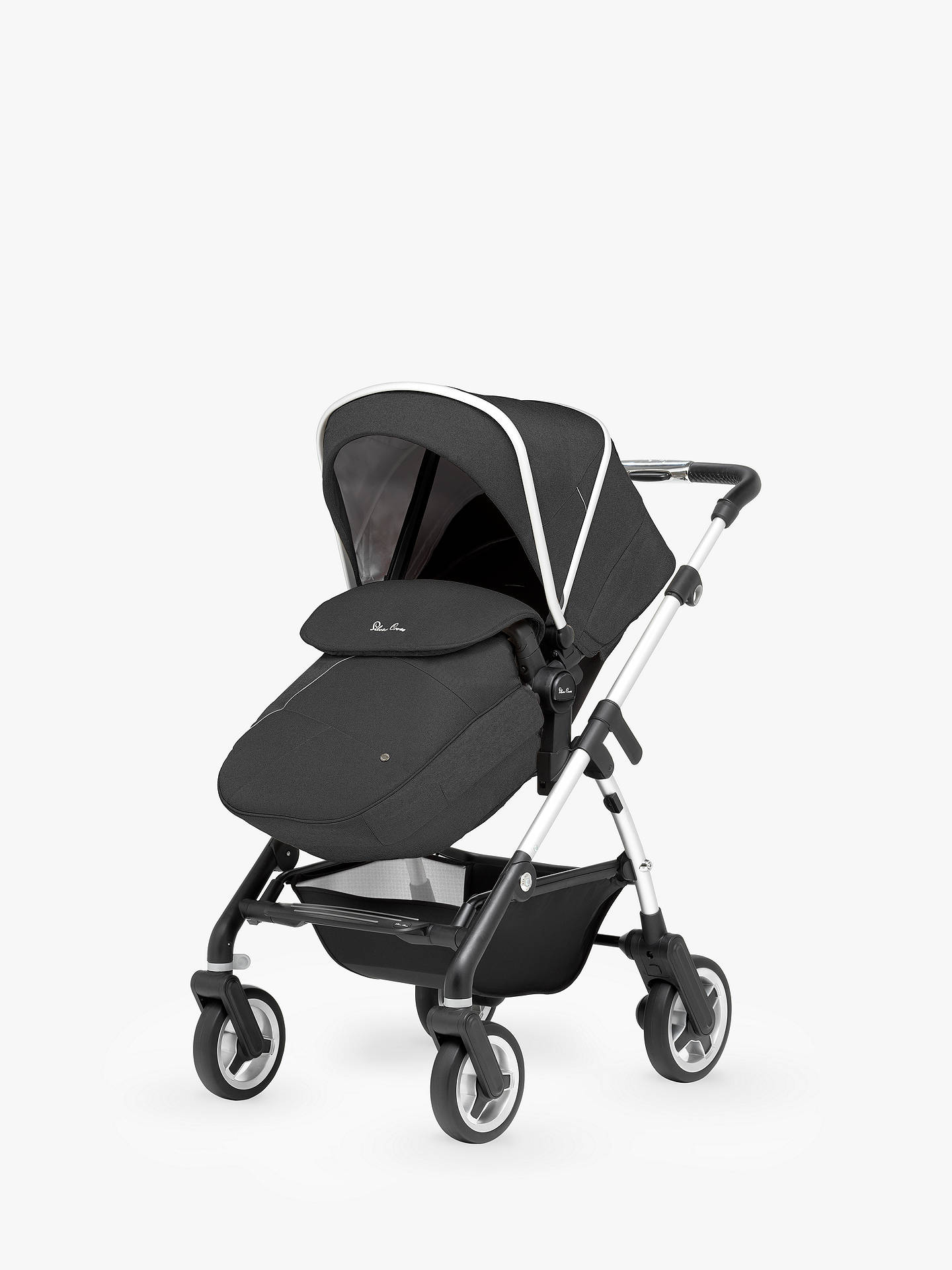 BuySilver Cross Wayfarer Pushchair, Chassis, Carrycot and Essentials Pack, Onyx Black Online at johnlewis.com