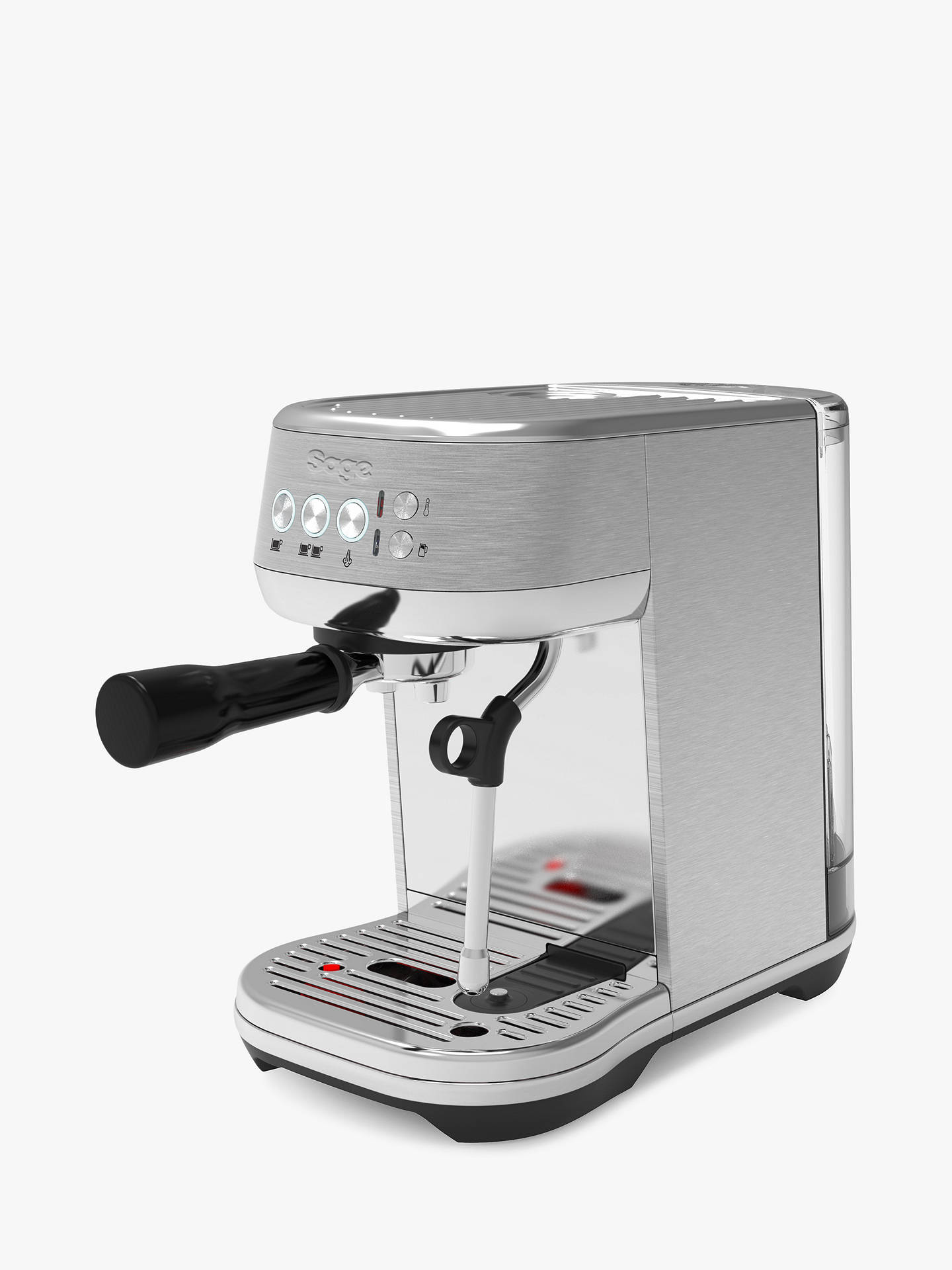 Buy Sage SES500BSS Bambino Plus Coffee Machine, Silver Online at johnlewis.com