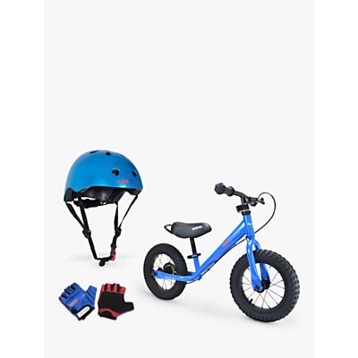Kiddimoto Super Junior Max Balance Bike With Helmet And Gloves, Blue