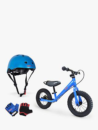 Kiddimoto Super Junior Max Balance Bike With Helmet and Gloves, Blue