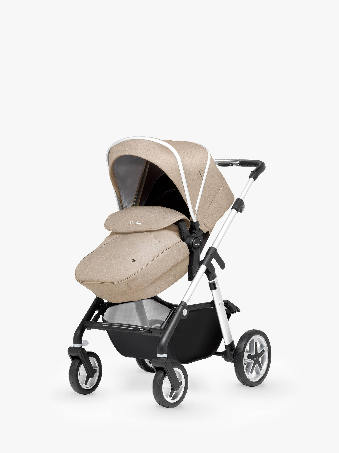 BuySilver Cross Pioneer Pushchair, Chassis, Carrycot and Essentials Pack, Linen Online at johnlewis.com