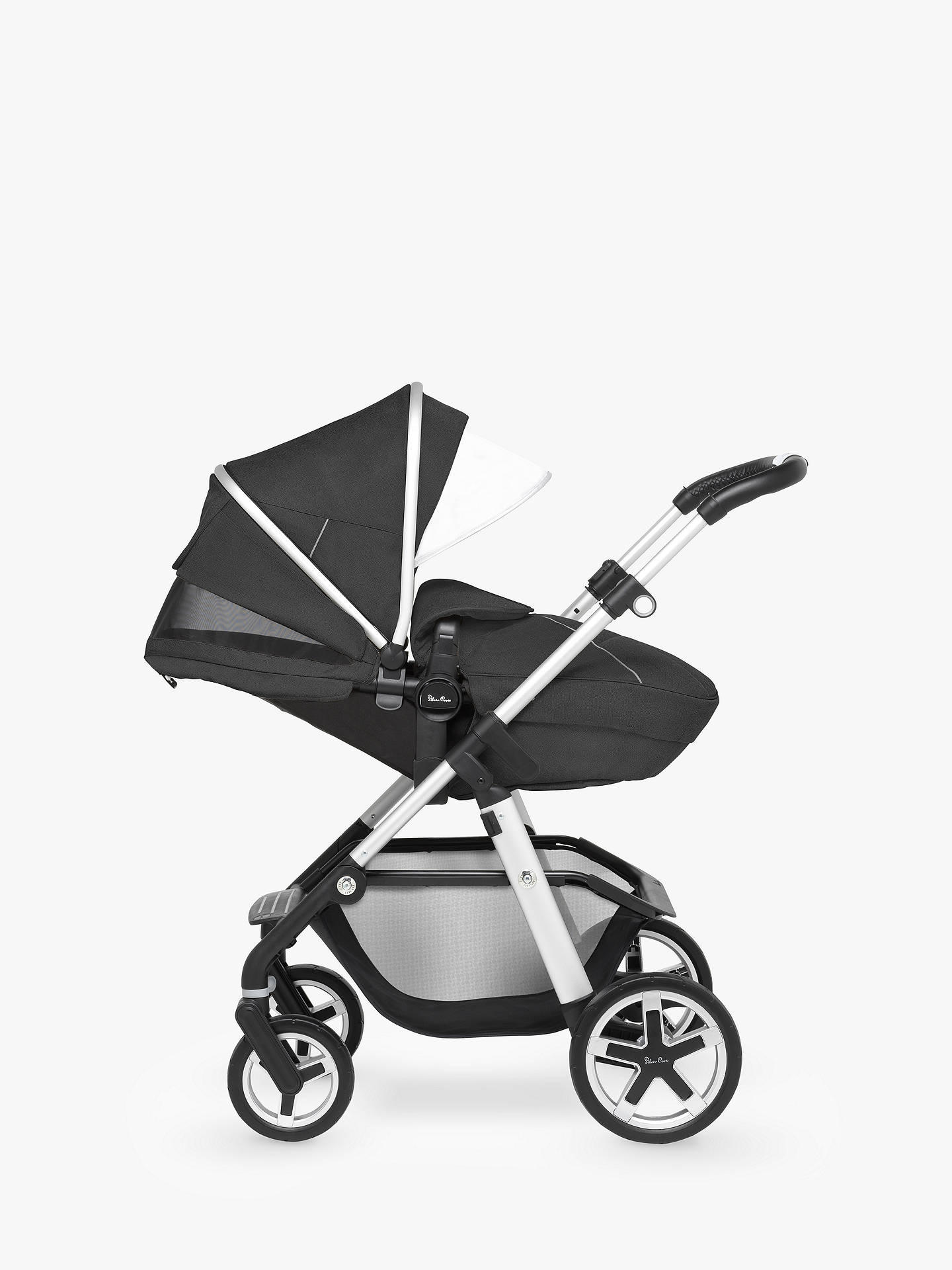 BuySilver Cross Pioneer Pushchair, Chassis, Carrycot and Essentials Pack, Onyx Black Online at johnlewis.com