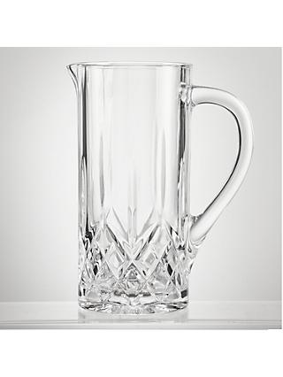 John Lewis & Partners Paloma Opera Cut Glass Jug, 1.2L, Clear