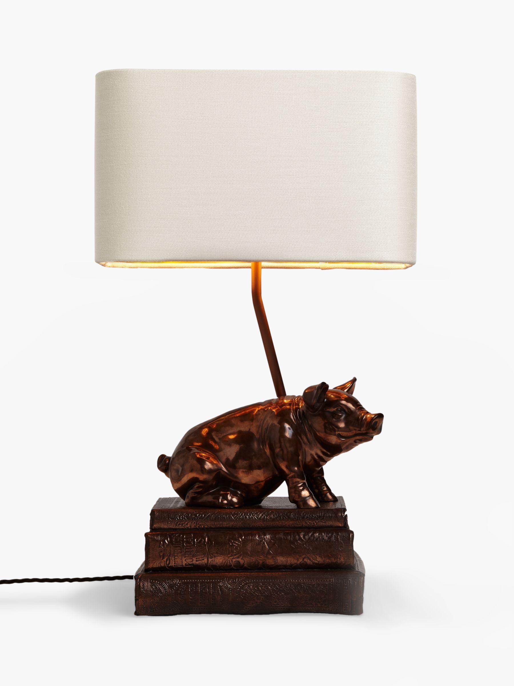 David Hunt David Hunt Frank the Pig Table Lamp, Copper