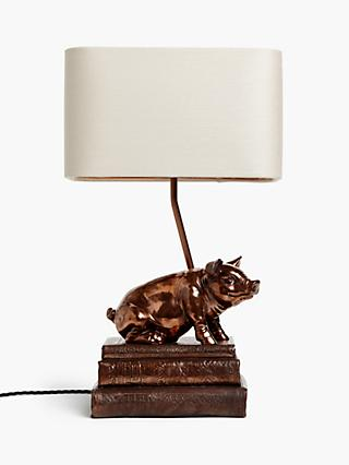 David Hunt Frank the Pig Table Lamp, Copper