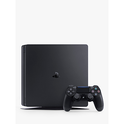Sony PlayStation 4 Slim (Model F) Console, 1TB, with DUALSHOCK 4 Controller, Jet Black