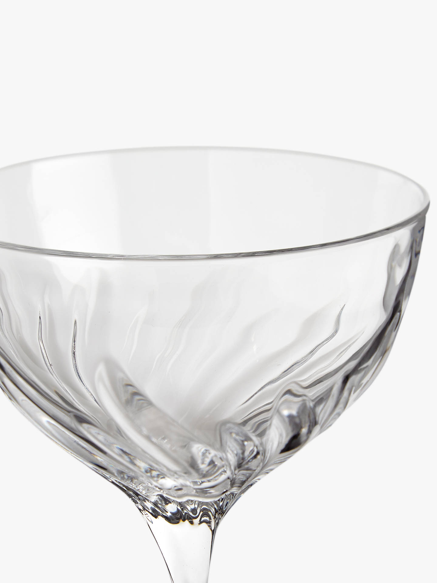 Buy John Lewis & Partners Cut Glass Champagne Saucers, 380ml, Set of 2, Clear Online at johnlewis.com