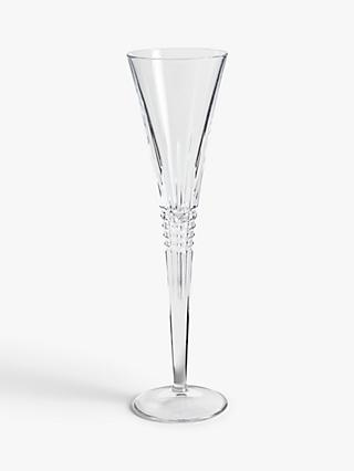 John Lewis & Partners Diamond Cut Glass Champagne Flutes, 204ml, Set of 2, Clear