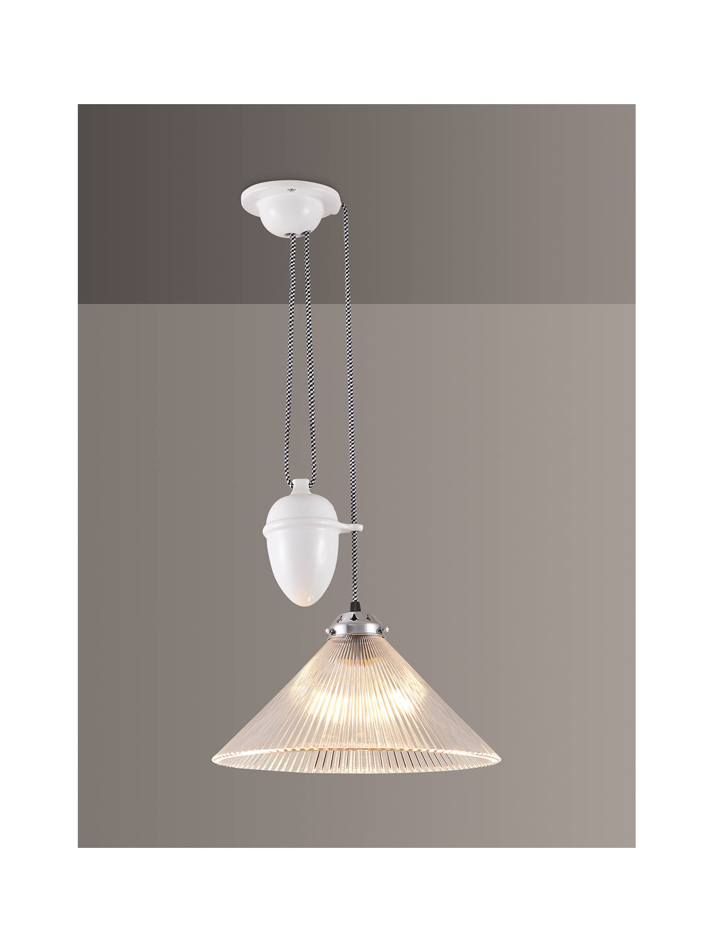 Buy Original BTC Coolie Prismatic Rise and Fall Ceiling Light, White Online at johnlewis.com