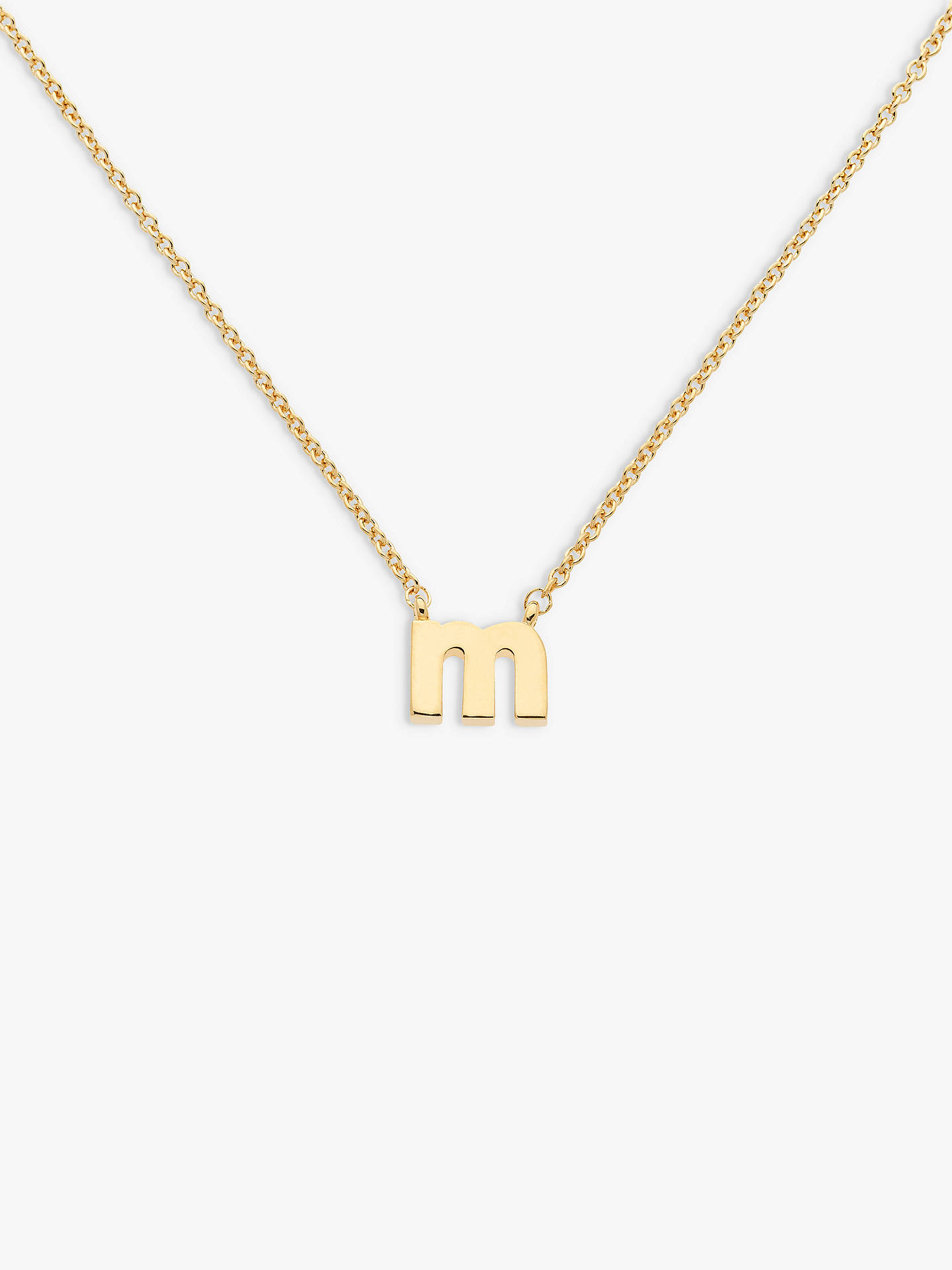 Buy Melissa Odabash Gold Plated Initial Pendant Necklace, M Online at johnlewis.com