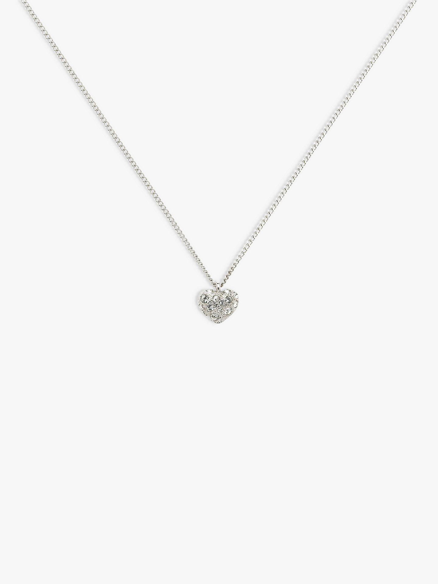 07ca0ac9b40a3 Melissa Odabash Swarovski Crystal Heart Pendant Necklace, Silver