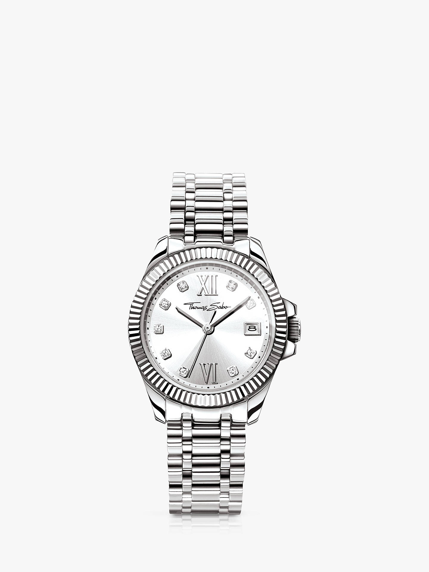 18cce854d Buy THOMAS SABO Women's Divine Date Crystal Bracelet Strap Watch, Silver  WA0252-201- ...
