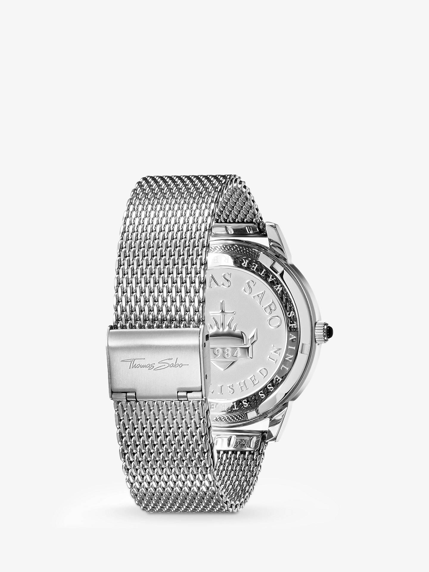 e9bb6d1a019e4f ... Buy THOMAS SABO WA0152-201-203-42 Men's Rebel Spirit Mesh Bracelet  Strap ...