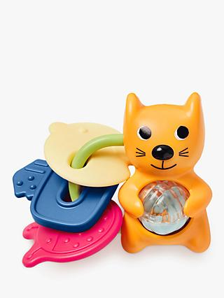 Skip Hop Cat Rattle and Teether Key Toy