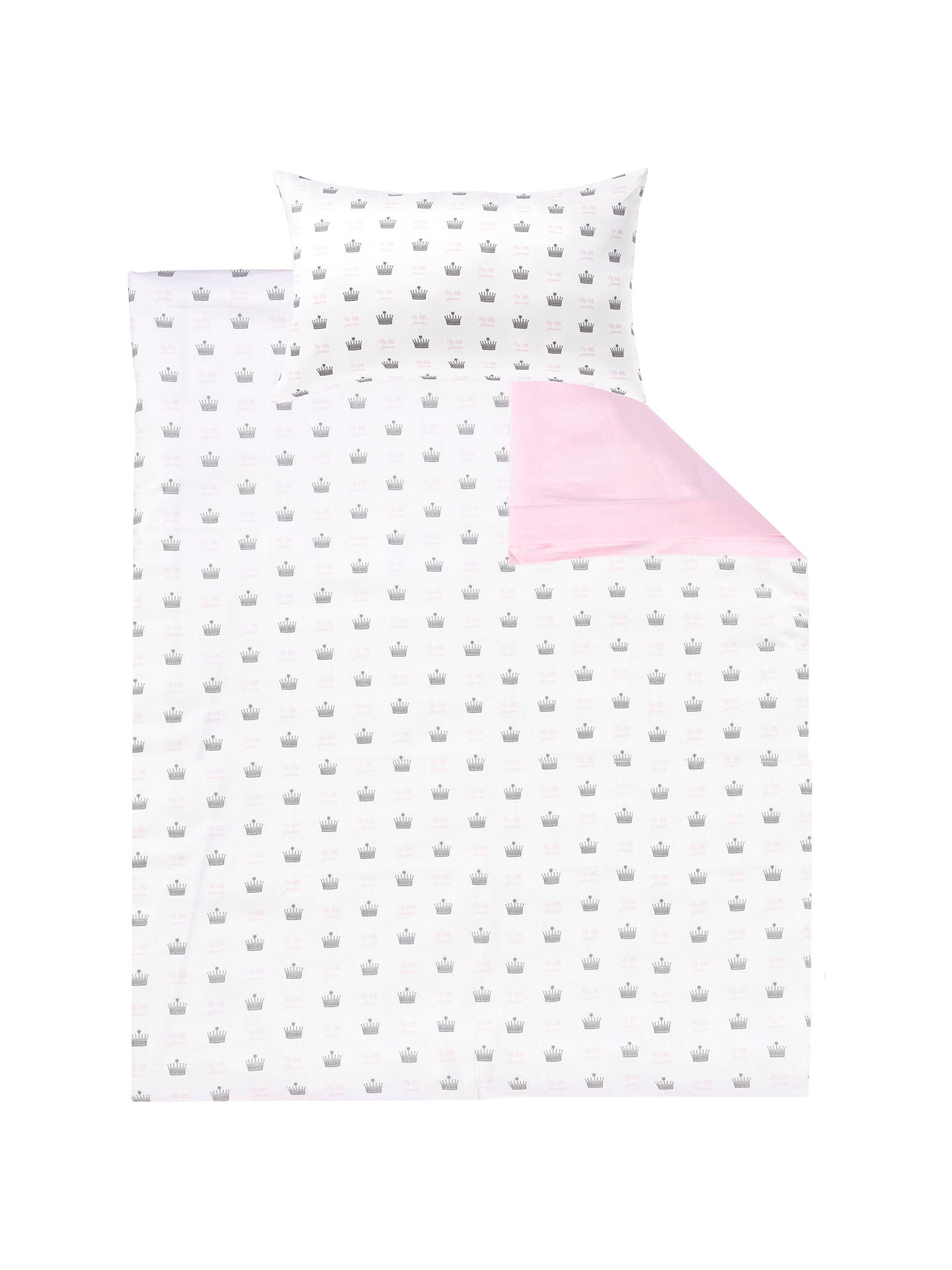 Buy Rachel Riley My Little Princess Duvet Cover and Pillowcase Set, Single, Light Pink Online at johnlewis.com