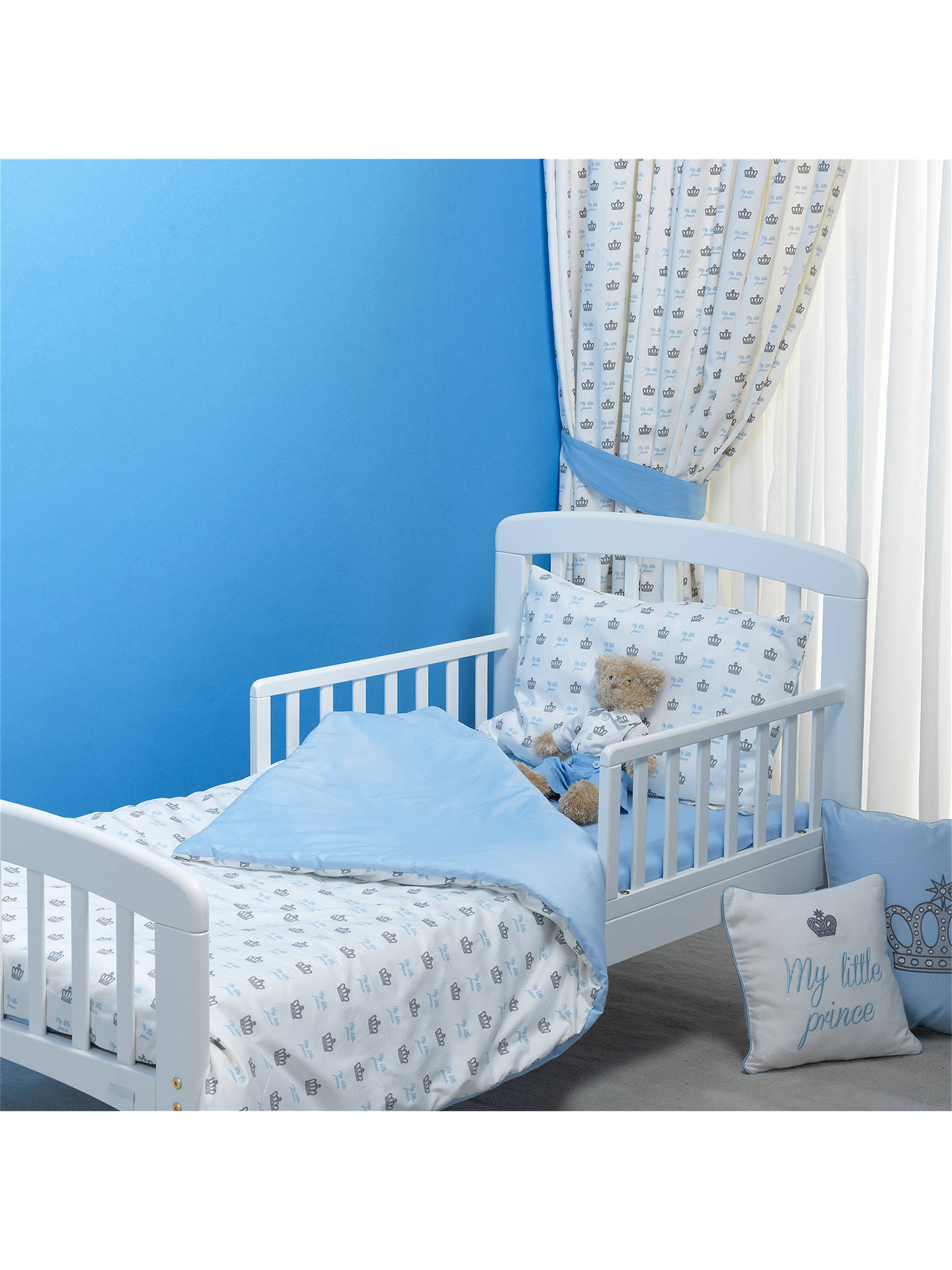 Buy Rachel Riley My Little Prince Duvet Cover and Pillowcase Set, Single, Light Blue Online at johnlewis.com