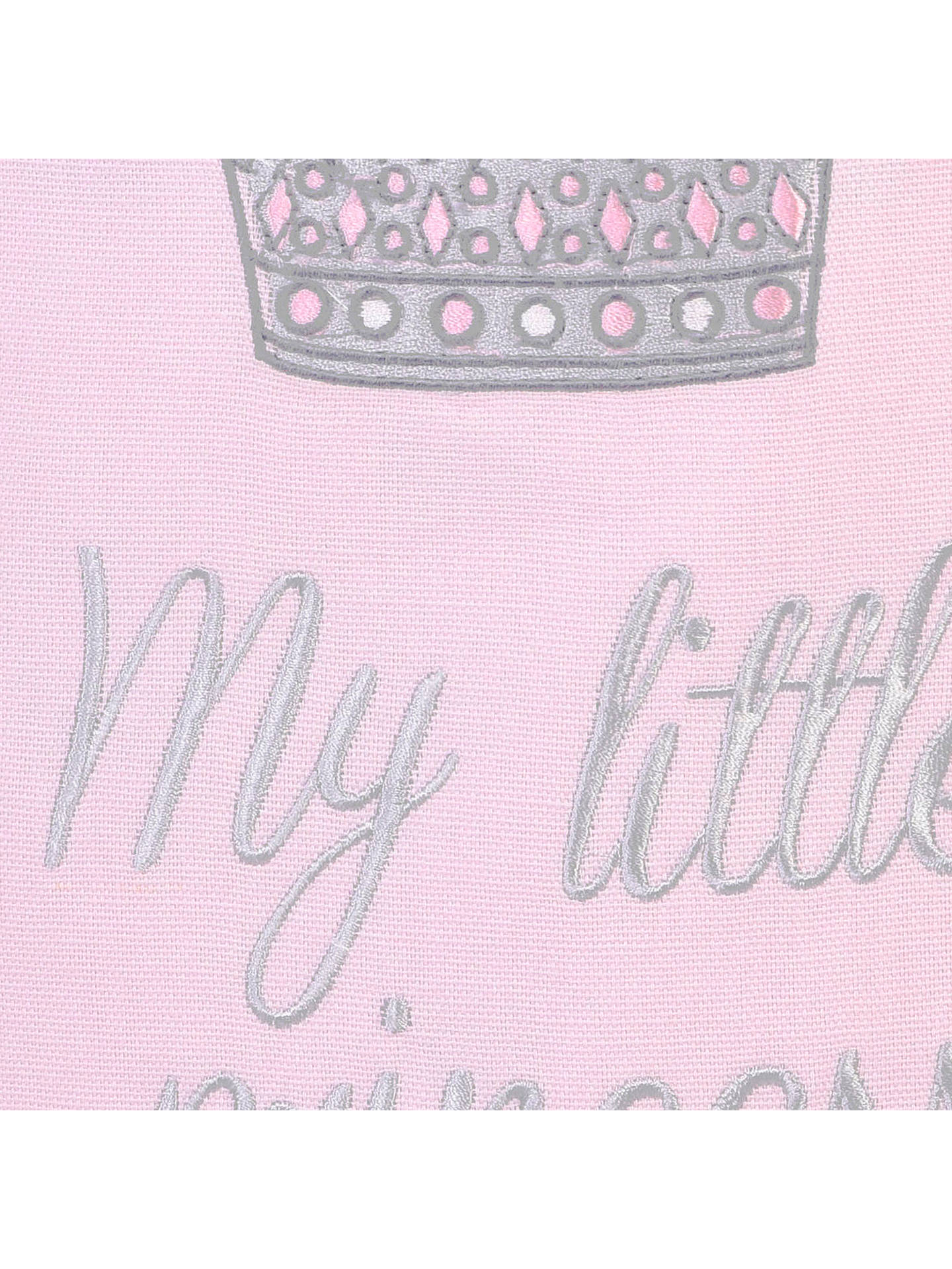 Buy Rachel Riley My Little Princess Crown Laundry Bag, Light Pink Online at johnlewis.com