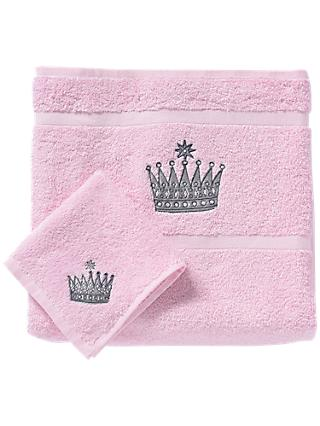 Rachel Riley My Little Princess Bath And Face Towel Set Light Pink