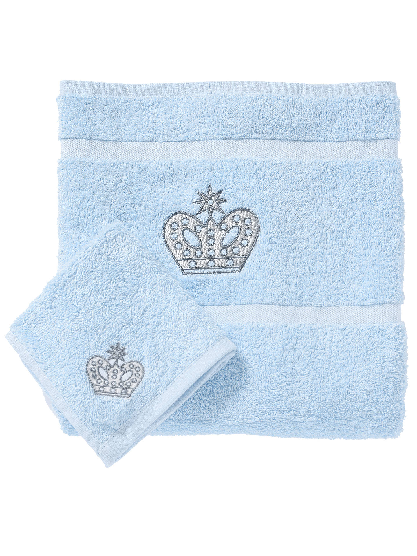 BuyRachel Riley My Little Prince Bath and Face Towel Set, Light Blue Online at johnlewis.com