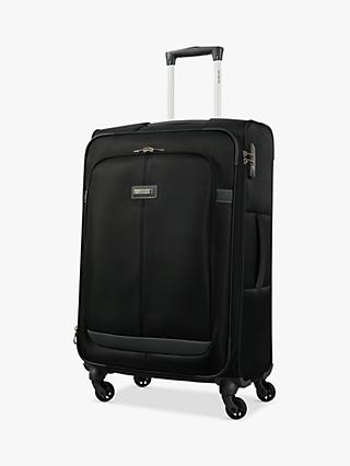 Samsonite Caphir 4-Wheel 69cm Medium Case, Black/Grey