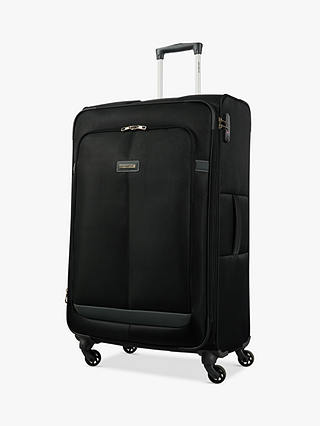Buy Samsonite Caphir 4-Wheel 80cm Large Case, Black/Grey Online at johnlewis.com