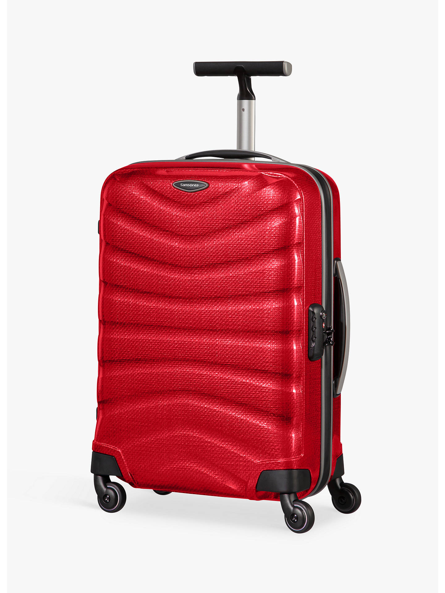 Buy Samsonite Firelite 4-Wheel 55cm Cabin Spinner Suitcase, Chilli Red Online at johnlewis.com
