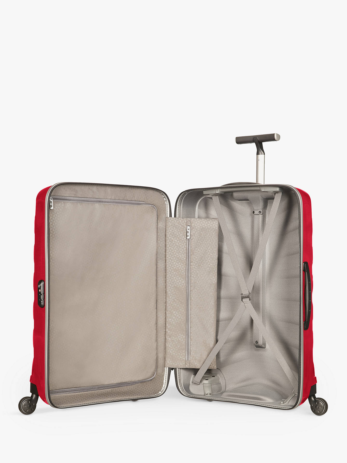 BuySamsonite Firelite 4-Wheel 69cm Medium Spinner Suitcase, Chilli Red Online at johnlewis.com