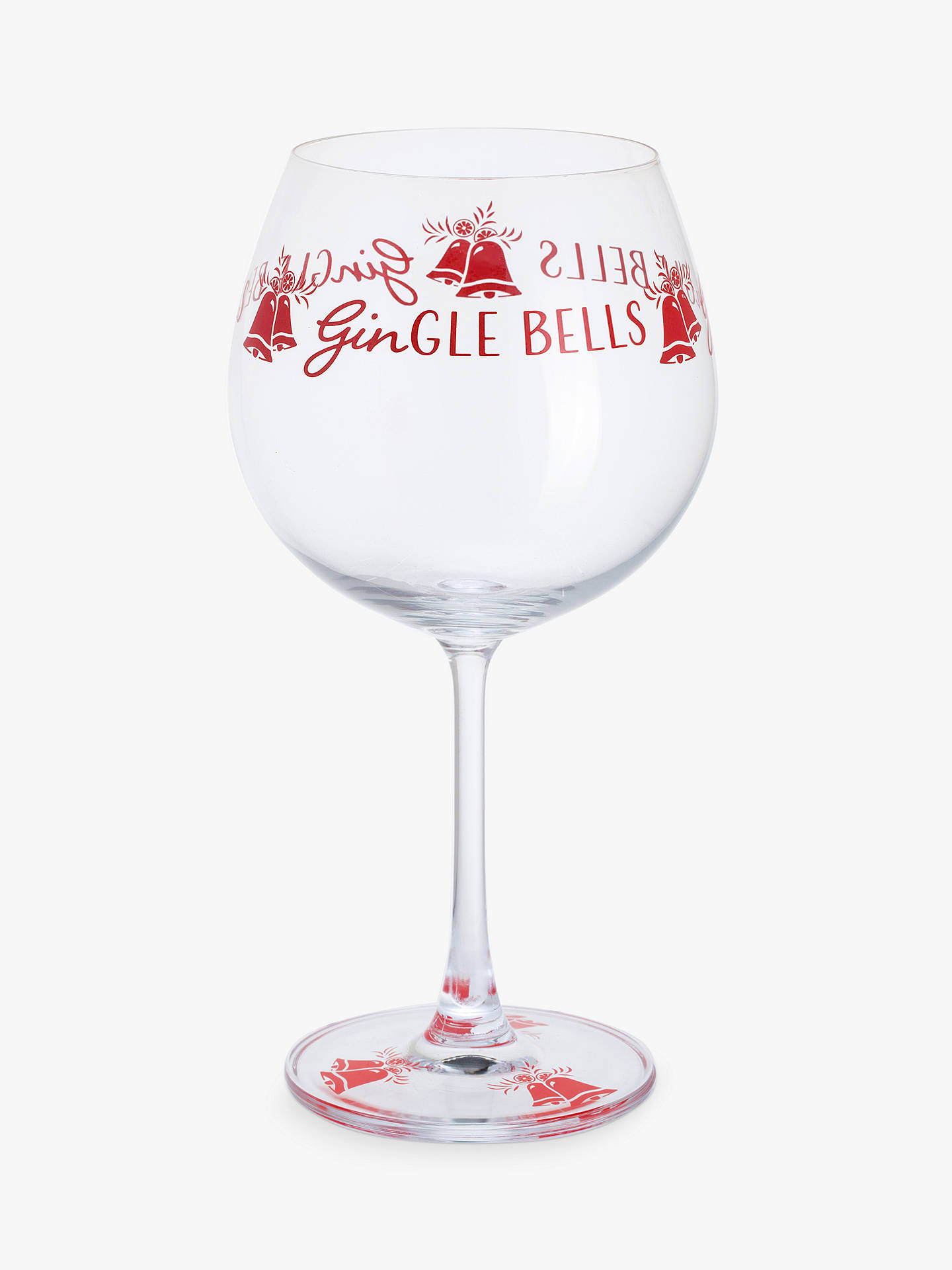Dartington Crystal Gin Time Christmas Gle Bells Gl 640ml Clear Online At
