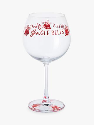 Dartington Crystal Gin Time Christmas Gle Bells Gl 640ml Clear