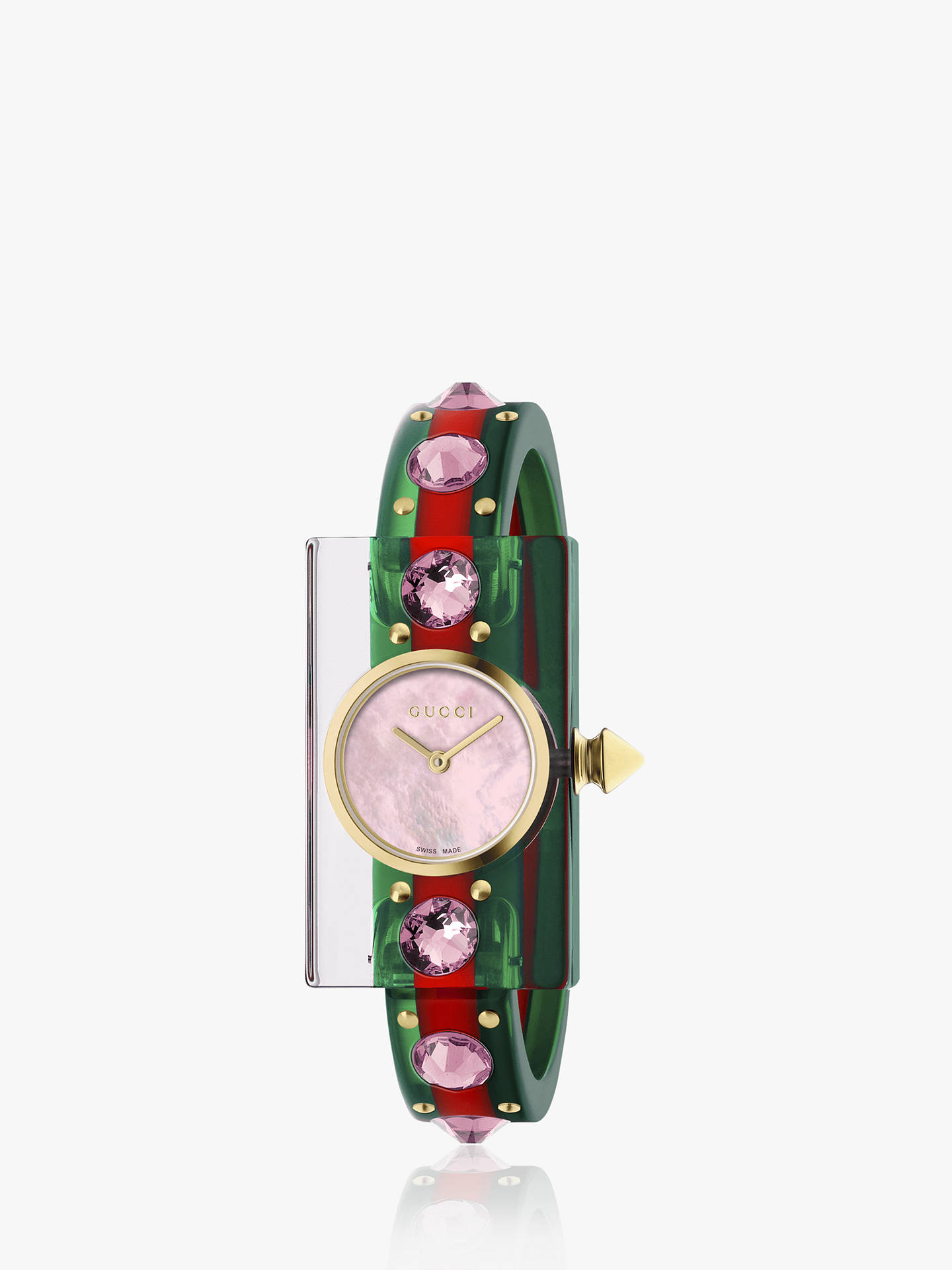 ff4d164231e Buy Gucci YA143525 Women s Vintage Web Plastic Strap Watch