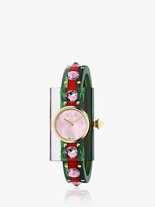 1e042e34cbf Gucci YA143525 Women s Vintage Web Plastic Strap Watch