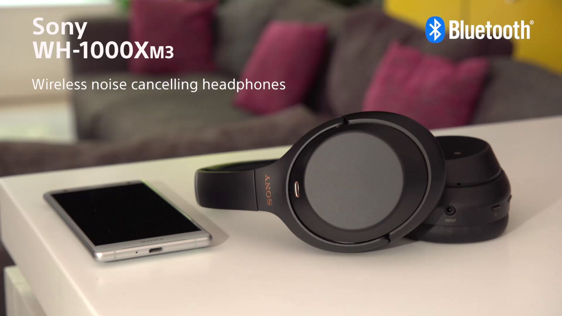 Sony WH-1000XM3 Noise Cancelling Wireless Bluetooth NFC High Resolution  Audio Over-Ear Headphones with Mic/Remote, Black