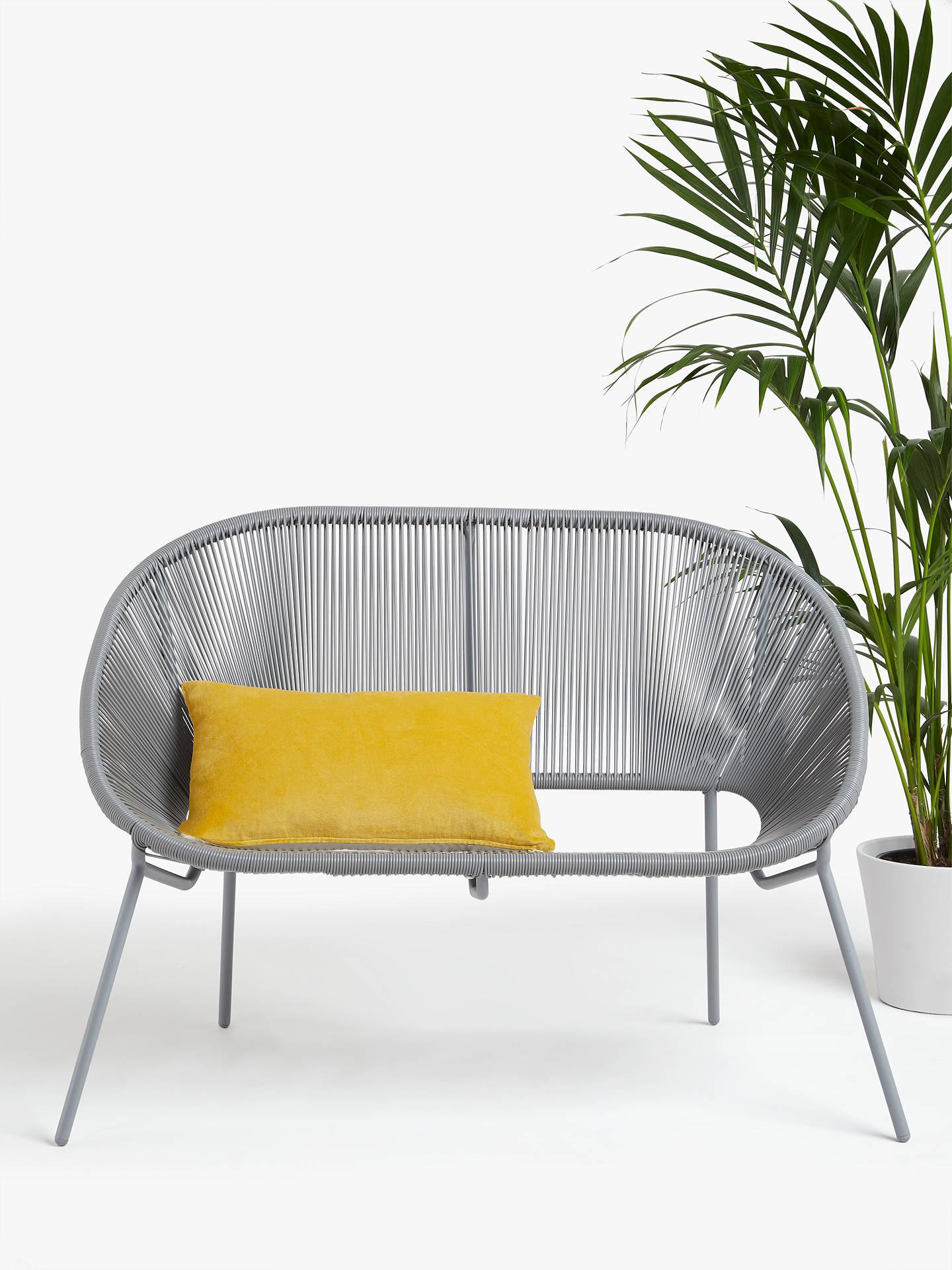 John Lewis & Partners Salsa 8-Seater Garden Sofa, Storm Grey