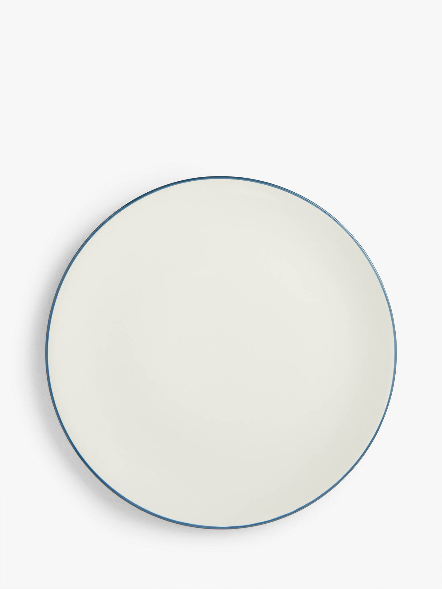 Buy House by John Lewis Stoneware Dinner Plates, Set of 4, 26cm, Blue Online at johnlewis.com