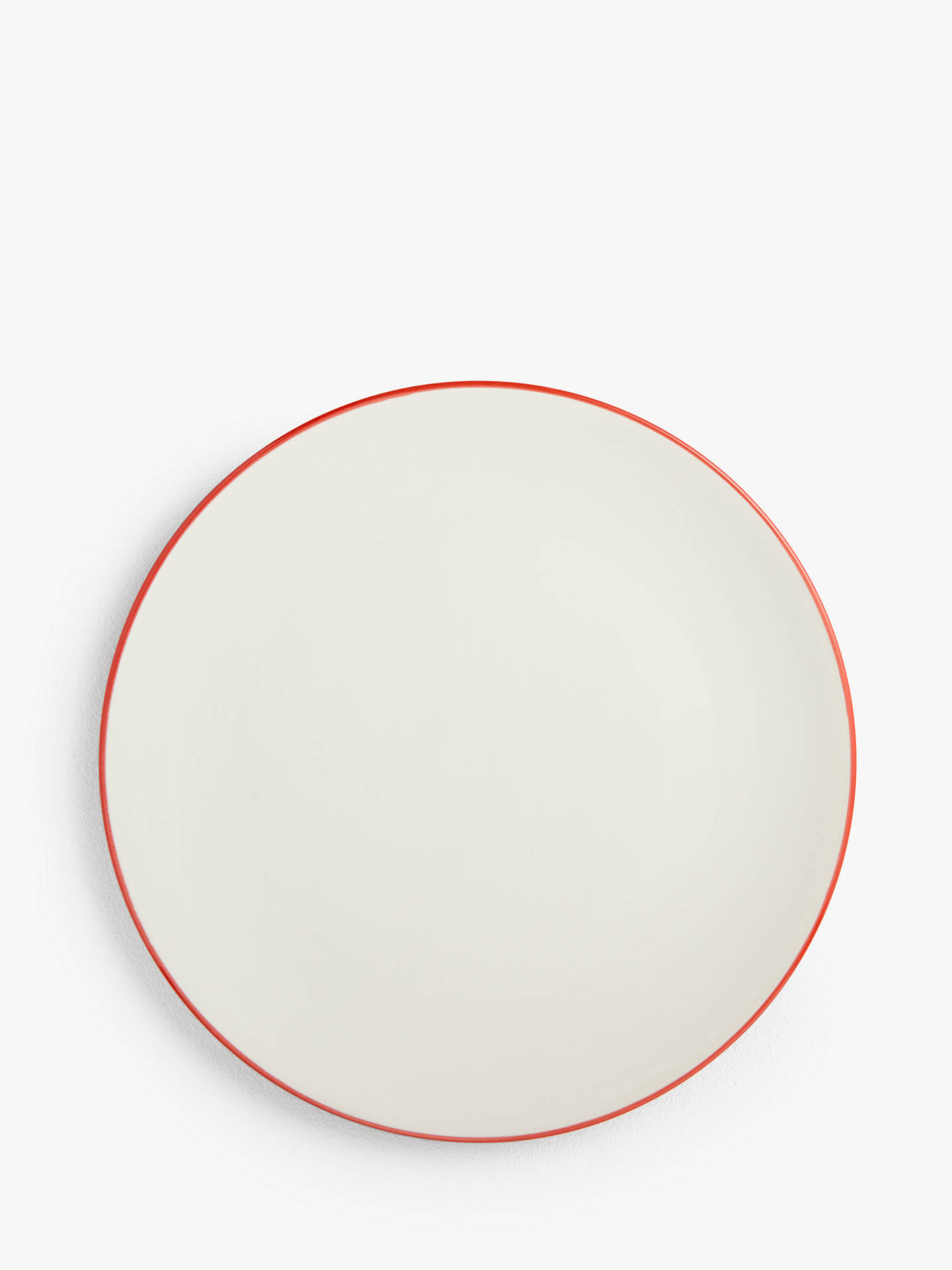 Buy House by John Lewis Stoneware Dinner Plates, Set of 4, Red Online at johnlewis.com