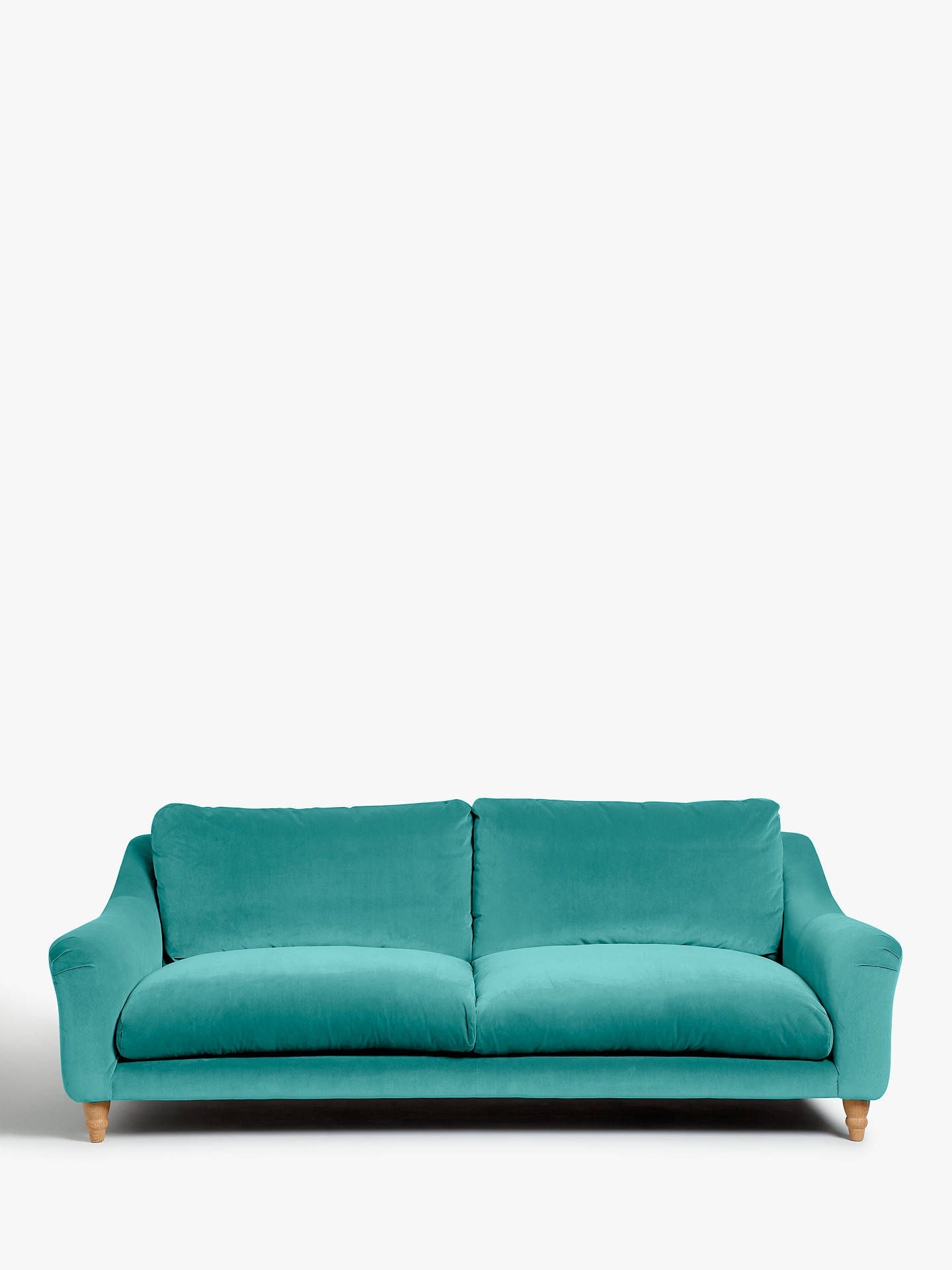 Buy Schmoozer Grand 4 Seater Sofa by Loaf at John Lewis, Brushed Cotton Peacock Online at johnlewis.com