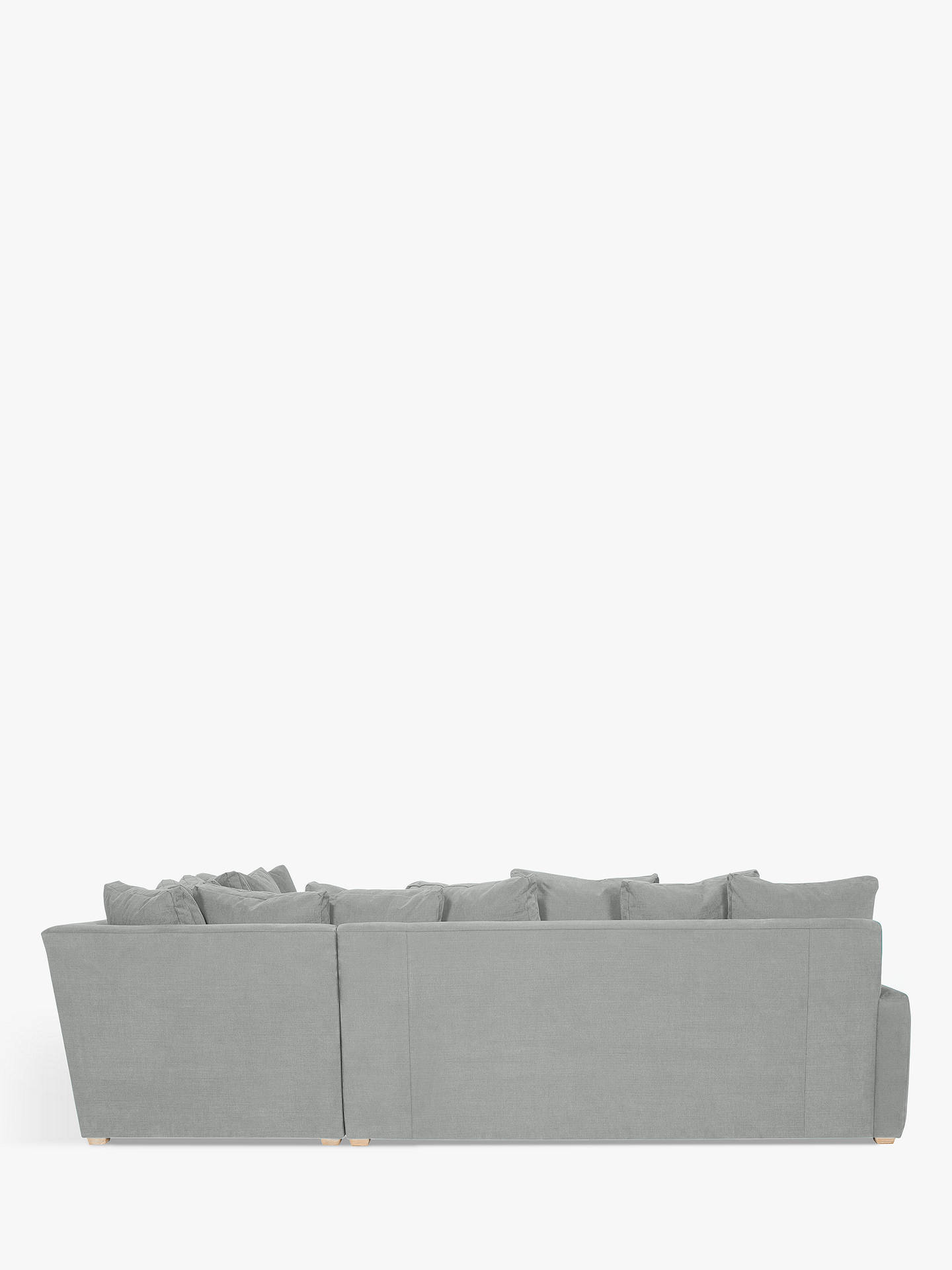 Buy Floppy Jo Large Corner Sofa by Loaf at John Lewis, Clever Softie Pewter Online at johnlewis.com