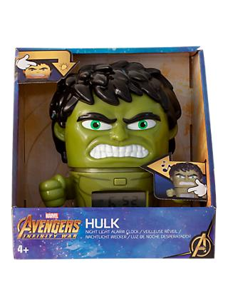 Marvel Avengers Hulk Night Light Alarm Clock